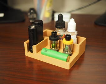 3D printed desktop caddy ,stand, organizer for eLeaf iStick PICO