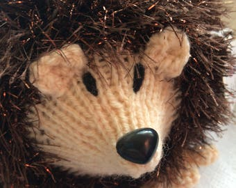 Large knitted hedgehog  toy/gift