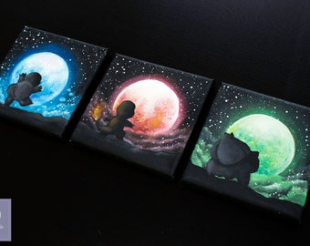 Starter Pokemon under the moon set