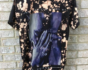 Vintage Inspired Bleached Tupac Shirt