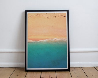 Beach Print, Beach Printable, Printable Wall Art, Home Decor, Digital Art, Digital Print, Waves Print, Coastal Print, Nautical