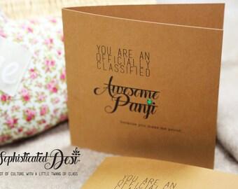 Awesome PANJI (Sister) Greeting card