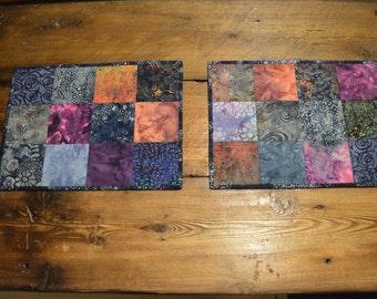 Set of 2 Reversible Batik Placemats