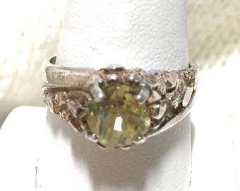Silver Setting with Golden Citrine Center Stone