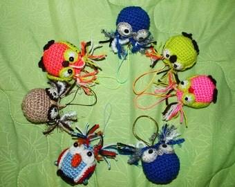 A cute crotchet owl charm\trinket.