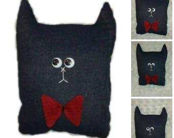 M and Ms Matou, decorative pillow, made hand, cat, decoration,