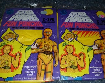 1970s Star Wars C-3PO Ponchos
