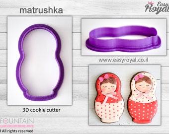 Matrushka - 3D cookie cutter