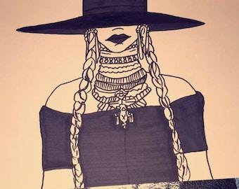 I Ain't Sorry Beyoncé Lemonade Drawing