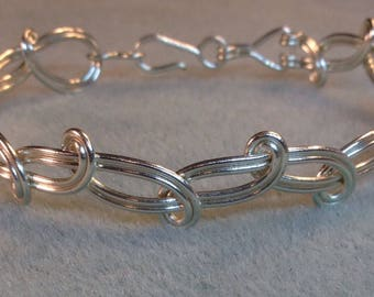 Silver Colored Wire Twisted Bracelet
