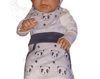 Skirt with panda print