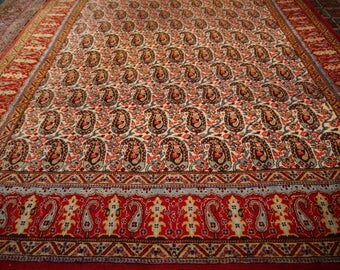 Vintage persian carpet Qum 10.7 × 6,11 ft 325 × 210 cm