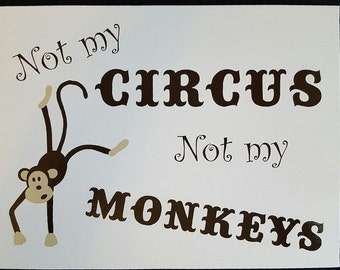Not My Circus Canvas Board