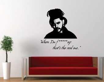 The Weekend, Starboy, Music, Decal, Vinyl, Home Decor, Sticker, Wall Art, Wall Decal, Bedroom, Living Room