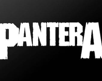 Pantera Vinyl Decal Car Window Guitar Laptop Thrash Metal Band Sticker