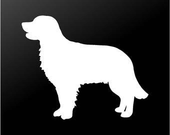 Golden Retriever Vinyl Decal Car Window Laptop Dog Silhouette Sticker