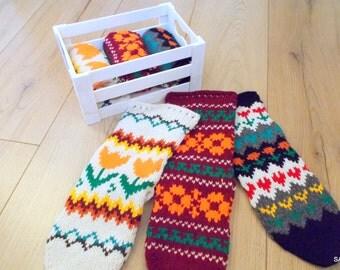Wool socks, Knitted handmade socks, Short socks, Knit slippers, Hand knitted wool socks, Soft and warm, Knitted gift, Woolen female socks