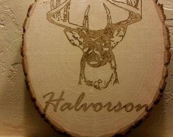 Laser engraving on basswood
