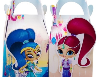 Shimmer and shine favor box, Shimmer and shine candy box, Shimmer and shine goody bag, Shimmer shine treat bag, Shimmer and shine treat box