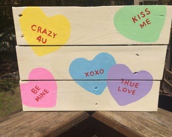 Candy Heart Pallet Sign