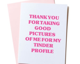 BFF Card, Online Dating Card, Funny Tinder Card, Tinder Valentine's Card, Dating App Card, True Friendship Card, Best Friend, Tinder Card