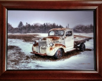 Snowstorm Dodge on 12x16 Canvas Framed