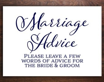 Marriage advice | Etsy