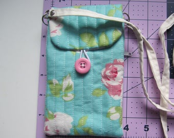 Fabric Cross Body Phone Bag