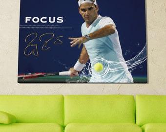 Roger Federer Poster Limited Edition 24x36 Poster | Roger Federer Canvas