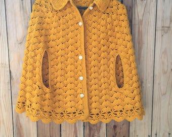 hand-made crochet cape