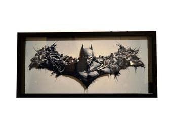 3D Batman Comic Mult-Layer 9x20 Shadow Box Art
