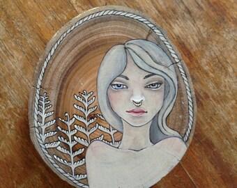 INHALE original painting on wood