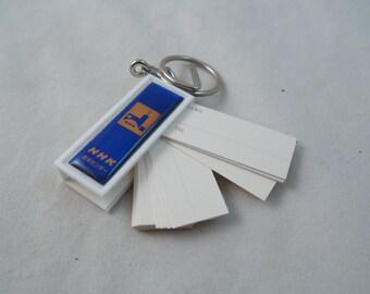 Japanese NHK Keychain Address Book