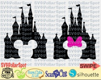 Disney Castle SVG - Disney Trip SVG - Mickey -Minnie - SVG File - Silhouette Studio File