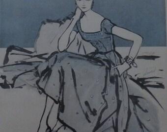 Kane-Weill Design, Illustration, Vintage Fashions, Moygashel, Vitality Shoes, Midcentury Fashions, Ephemera, Collage