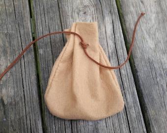 Renaissance faire coin bag, medieval costume accessory, ren faire accessory, medieval coin purse, ren faire bag, dice bag, gaming dice bag