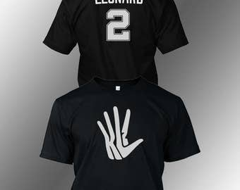 Kawhi Leonard San Antonio Spurs Fan T Shirt, Front and back.