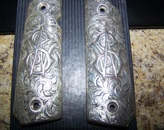 Sterling Silver 1911 Gun Grips