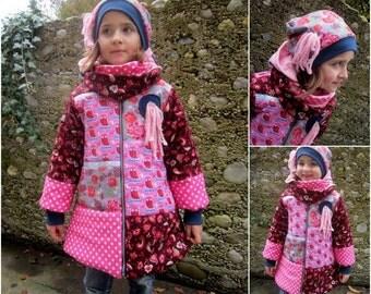 Patchwork coat from desire material, tip tip coat, jacket, quilt,