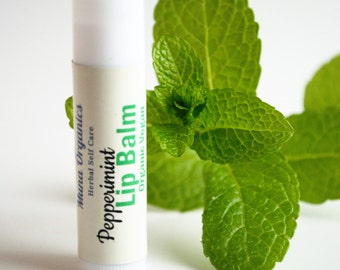 Organic, Vegan Peppermint Lip Balm