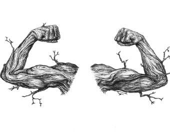 Nature has Muscles Fine Art Print