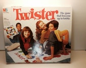 Twister Game Milton Bradley 1966 1993 - Includes 2 Games in One 2 Mats and 2 Spinners Vintage Fun Party Game Collectable