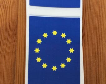 10 + 2 EU vinyl stickers, Europe, shopping, remain, 10 (+2) stickers