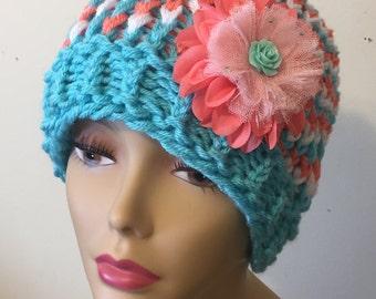 Triple Colored Sloppy Bun Hat