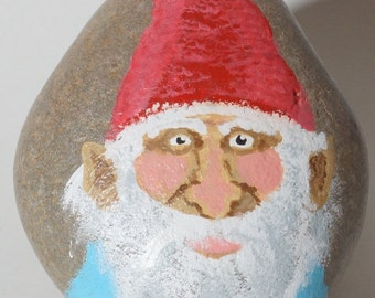 Painted Rock Garden Gnome