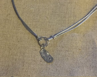 Necklace pen and circle silver
