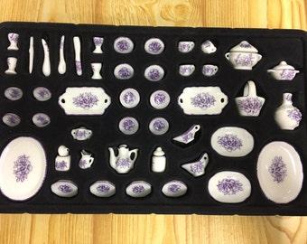 Dollhouse Miniature Dinner & Tea Set-45pcs