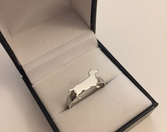 Dachshund Dog Ring Silver 925
