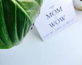 MOM WOW MothersdayGiftCardINSTANTDOWNLOAD