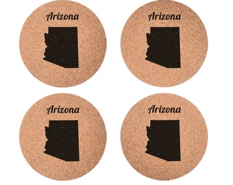 Arizona Set 4pc Coaster Set Cork Home Bedroom Bar